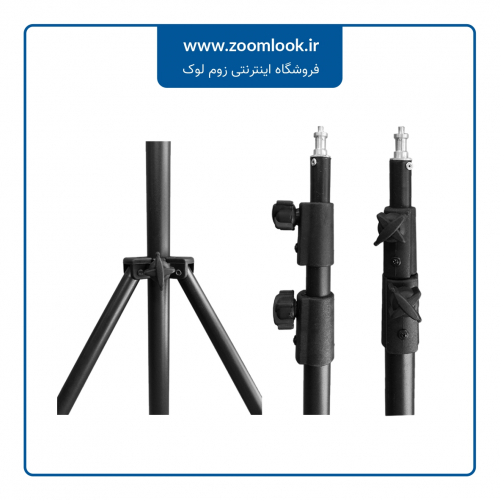 سه پایه نور MiLook 807A LIGHT STAND (مشکی)