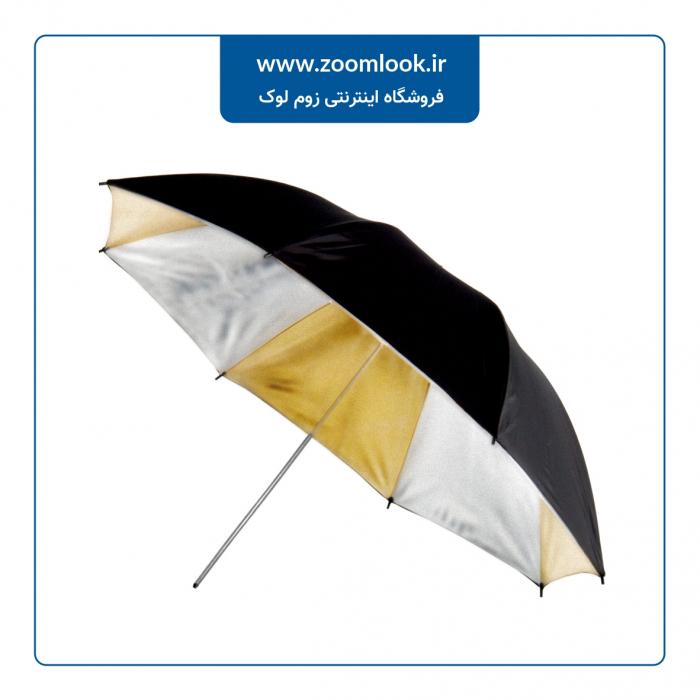 چتر عکاسی طلایی نقره ای 100Cm