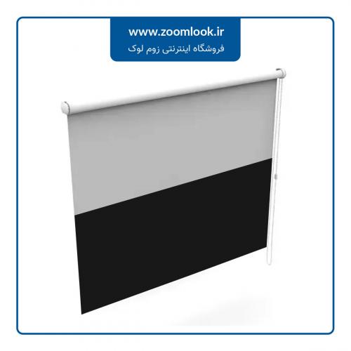 پرده کرکره ای Milook دو محوره رنگ سفید - مشکی